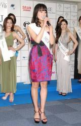 『2012ミス・アース』の日本代表ファイナリストに選ばれた紀真耶さん (C)ORICON DD inc.