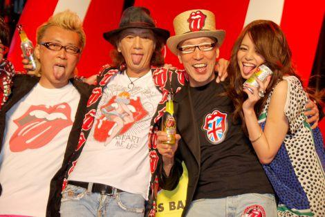 サントリー飲料『STONES BAR』発売記念イベントに出席した(左から)箭内道彦、Char、テリー伊藤、岸本セシル (C)ORICON DD inc.