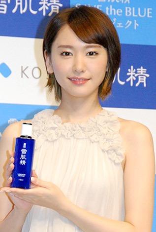 化粧水『雪肌精』のイメージキャラクターに起用された新垣結衣 (C)ORICON DD inc.