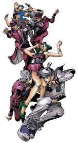 『ジョジョの奇妙な冒険』25周年記念イラスト (C)荒木飛呂彦&LUCKY LAND COMMUNICATIONS/集英社