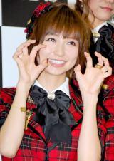 新機種『ぱちんこAKB48』プレス発表会に出席したAKB48の篠田麻里子 (C)ORICON DD inc.