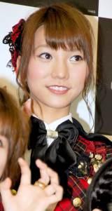 新機種『ぱちんこAKB48』プレス発表会に出席したAKB48の高城亜樹 (C)ORICON DD inc.