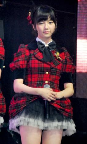 新機種『ぱちんこAKB48』プレス発表会に出席したAKB48の島崎遥香 (C)ORICON DD inc.