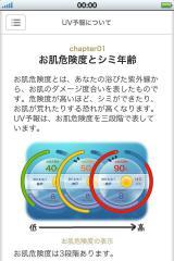 アプリには紫外線に関する豆知識も掲載