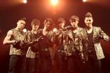 日本お披露目イベントを行ったCROSS GENE(左から)CASPER(キャスパー)、YONG SEOK(ヨンソク)、TAKUYA(タクヤ)、SHIN(シン)、J.G(ジェイジー)、SANG MIN(サンミン)