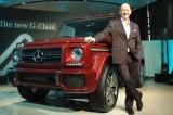 2日に発売された高級SUV『Gクラス』とメルセデス・ベンツ日本のニコラス・スピークス社長 (C)ORICON DD inc.