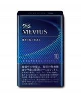 名称・デザインが変更に 新デザイン『MEVIUS(メビウス)』(画像提供:日本たばこ産業)