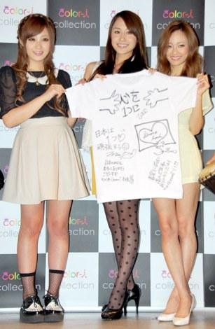 ファッションショー『Color-I』開催発表会見に出席した(左から)てんちむ、向山志穂、宮城舞 (C)ORICON DD inc.