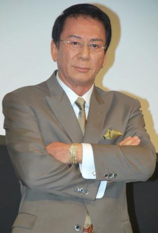 BeeTVドラマ『親父の仕事は裏稼業』完成披露舞台あいさつに出席した杉良太郎 (C)ORICON DD inc.