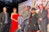 (左から)ジョス・ウェドン監督、米倉涼子、サミュエル・L. ジャクソン、竹中直人、プロデューサーのケビン・ファイギ氏 (C)ORICON DD inc.