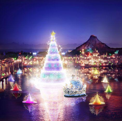 幻想的なムードを醸し出す 東京ディズニーシーの『クリスマス・ウィッシュ』イメージ(C)Disney