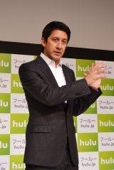 都内で行われたプレスカンファレンスに登場した『Hulu』日本代表マネージング・ディレクターのバディ・マリーニ氏 (C)ORICON DD inc.