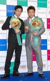 『TOUCH!WOWOW2012 いいね♪3チャンネルの日』記者会見に出席した(左から)WBC世界バンタム級王者の山中慎介選手、WBC世界フライ級王者の五十嵐俊幸選手 (C)ORICON DD inc.