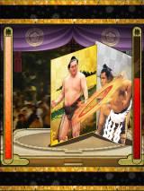 はっけよい、のこった! 他のユーザーと協力し対戦も可能(C) 財団法人日本相撲協会 /(C)GREE, Inc.