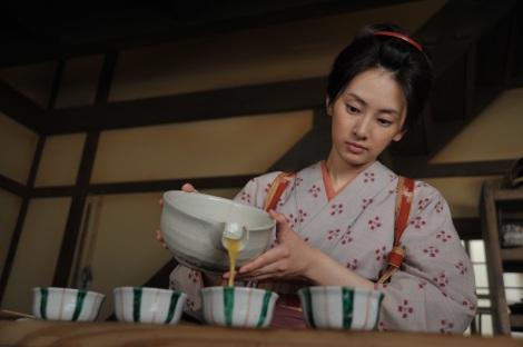 9月22日放送のテレビ朝日系時代劇ドラマ『みをつくし料理帖』に主演する北川景子(C)テレビ朝日