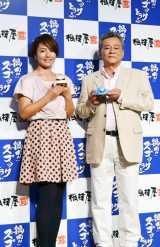 会場には、シャア役の声優・池田秀一(右)とタレントの磯山さやかも登場 (C)ORICON DD inc.