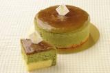 1ピースに約1250万匹のミドリムシが含まれた、パティスリーアンファンスの「ユーグレナ抹茶チーズケーキ」(1ピース400円)