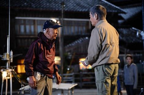 映画『あなたへ』が遺作に… 死去した大滝秀治さん&主演の高倉健の共演カット (C)「あなたへ」製作委員会