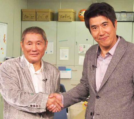 新番組『日曜ゴールデンに何やってんだテレビ』の初収録を行った(左から)ビートたけし、石橋貴明(とんねるず) (C)ORICON DD inc.