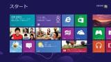 UIを一新した『Windows 8』 タイル状に並んだアプリから、ひと目で最新情報が確認できるよう設定できる
