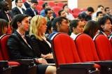 立命館大学の2012年度秋季入学式に出席した学部生たち