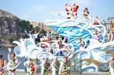 ミッキーやミニーたちがし大集合! 東京ディズニーシーの「ホリデーグリーティング・フロム・セブンポート」の様子 (C)ORICON DD inc.
