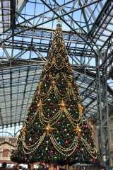 ワールドバザールにあるクリスマスツリーも今日からお目見え (C)ORICON DD inc.