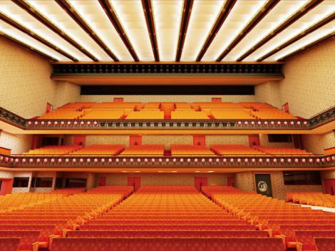 来年4月2日に開場する第五期歌舞伎座の劇場客席完成予想図(提供:松竹株式会社)