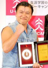 持ちネタ「ワイルドだろぉ」が『2012 ユーキャン新語・流行語大賞』年間大賞に選ばれたスギちゃん (C)ORICON DD inc.
