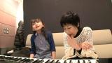 鈴木梨央(左)が「花は咲く」のレコーディングに初挑戦。右は作曲・編曲を担当した菅野よう子(C)NHK