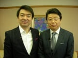 約5年ぶりに「行列のできる法律相談所」に出演する橋下徹大阪市長と、北村晴男弁護士(C)日本テレビ