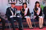 交通安全イベント『品川クラシックカーレビューイン港南』に登場し一日署長を務めた小林麻耶と、副署長を務めたえりんぬ