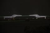 25日午後7時にライトアップを開始した東京ゲートブリッジ