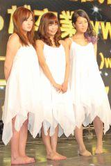あやまんJAPAN、新メンバー3人決定(左から)サムギョプサル和田、あいな、金玉澤 (C)ORICON DD inc.