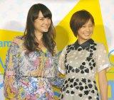 台湾でも大人気の(左から)加賀美セイラと本田翼