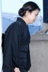 歌舞伎俳優の中村勘三郎さんの本葬に参列した松たか子 (C)ORICON DD inc.