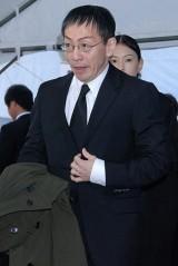 歌舞伎俳優の中村勘三郎さんの本葬に参列した野田秀樹 (C)ORICON DD inc.