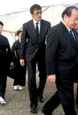 歌舞伎俳優の中村勘三郎さんの本葬に参列した阿部寛 (C)ORICON DD inc.