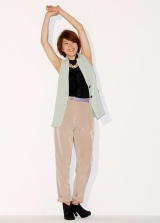 新創刊の雑誌『マジェスティ ジャパン』でファッションモデルに初挑戦した潮田玲子 撮影の様子 (C)ORICON DD inc.