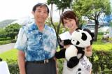 仁坂吉伸和歌山県知事と「わかやまパンダ大使」に就任した岡本玲