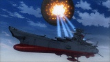 4月14日放送の第2話より、主砲ショックカノンの一斉射でガミラスの放つ惑星間弾道弾を破壊するヤマト (C)宇宙戦艦ヤマト2199製作委員会
