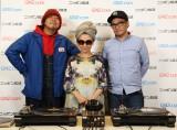 4年ぶりにニッポン放送でパーソナリティを担当するMISIAとDJ MURO(左)、DJ NORI(右)