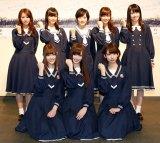 乃木坂46新センターに白石麻衣(前列中央)が指名され、生駒里奈(後列中央)は2列目に
