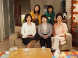 TBS系ドラマ『渡る世間は鬼ばかり』(前列左から)中田喜子、泉ピン子、長山藍子(後列左から)野村真美、藤田朋子
