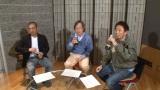 サントリー『PEPSI SPECAIL』新CMのアフレコを担当する(左から)松本人志、武田鉄矢、浜田雅功