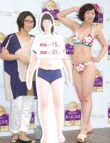 ダイエット企画結果発表会に出席した(左から)くわばたりえ、川村エミコ (C)ORICON NewS inc.