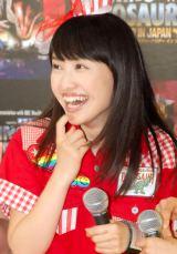 19歳の誕生日を迎えた百田夏菜子(ももいろクローバーZ)=恐竜ショー『WALKING WITH DINOSAURS LIVE ARENA TOUR IN JAPAN』初日公演 (C)ORICON NewS inc.