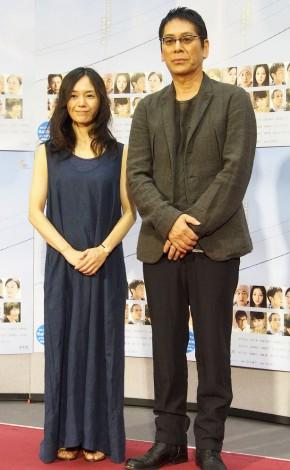 『あなたに似た誰か』の完成試写会に出席した(左から)奥貫薫、大杉漣 (C)ORICON NewS inc.