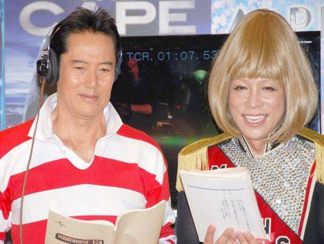 アフレコに挑戦した(左から)山下真司、KABA.ちゃん=海外ドラマDVDリリース記念イベント (C)ORICON NewS inc.