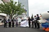 ガンダムの大理石像『REIMEI white dawn』がお披露目されたオープニングセレモニーの模様 (C)創通・サンライズ